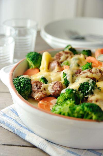 ovenschotel met vlees en groenten