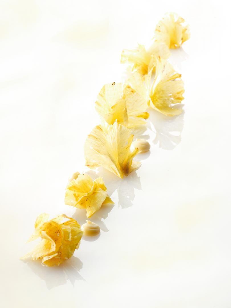 Ananascarpaccio met crémeux van ananas