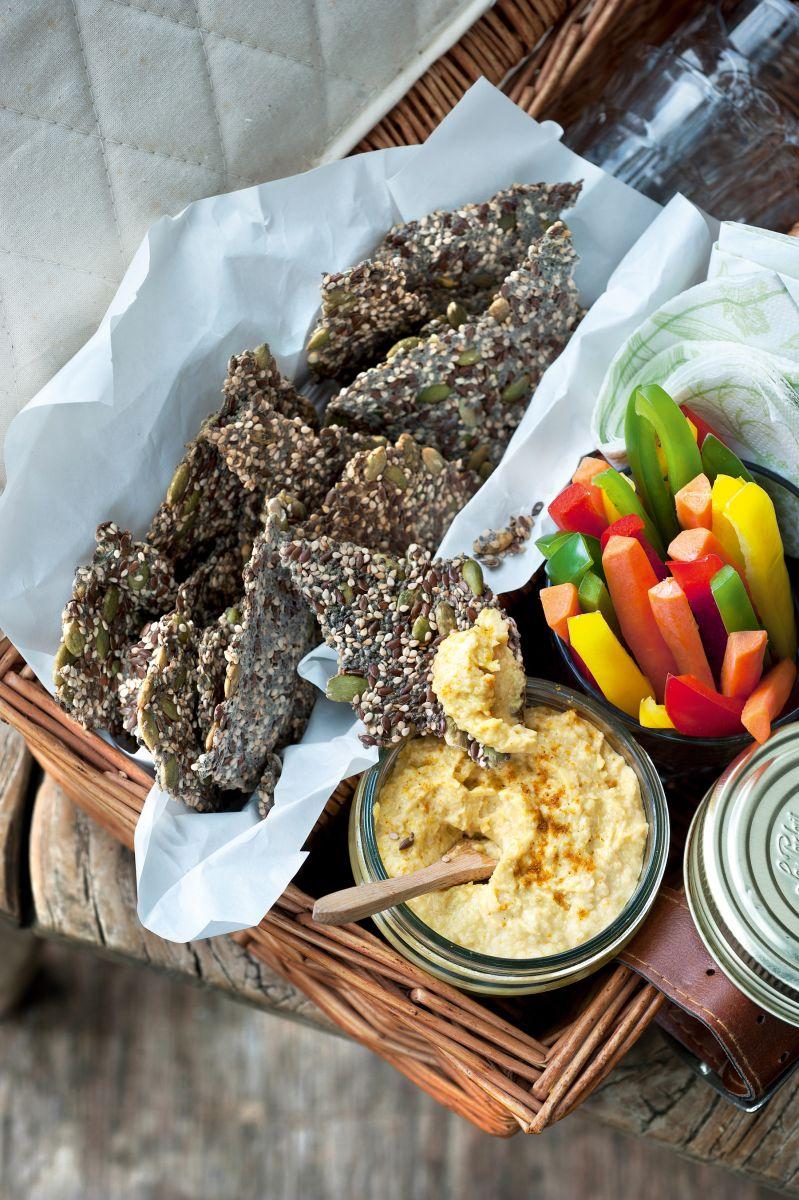 Zadencrackers met hummus
