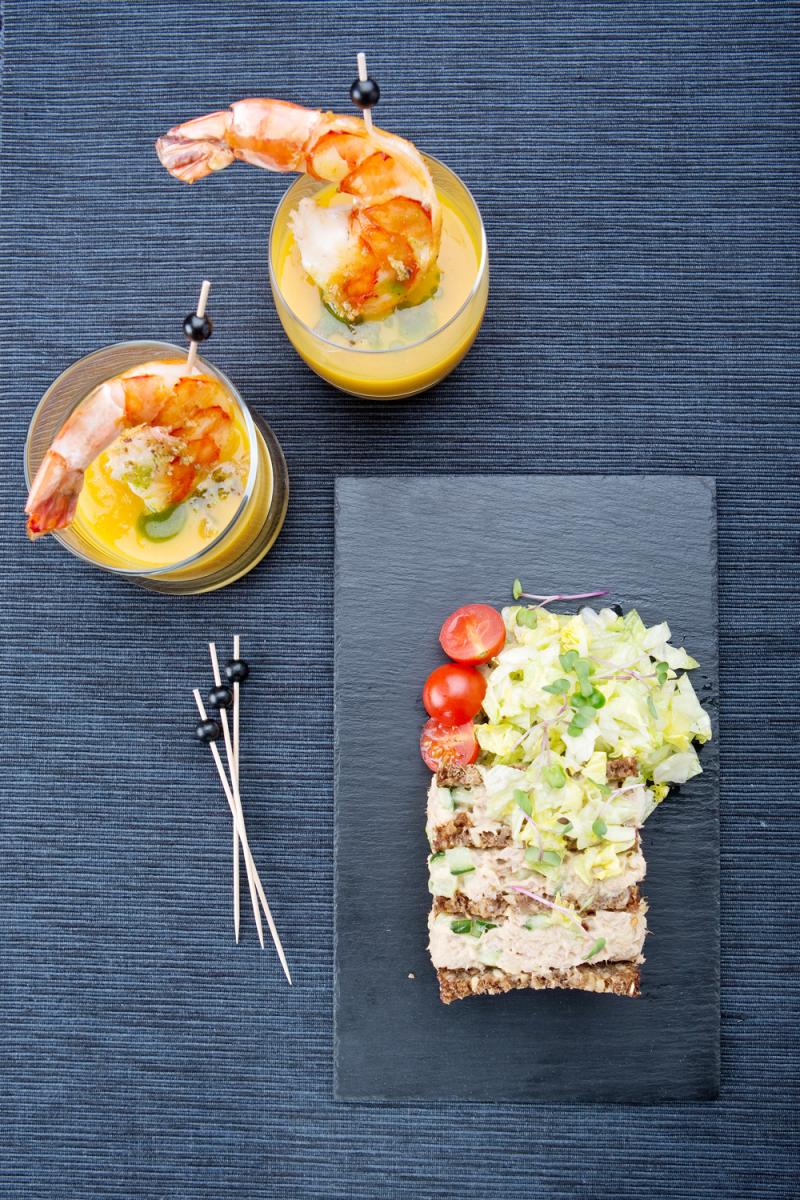 Kleurrijk tonijnbroodje gezond