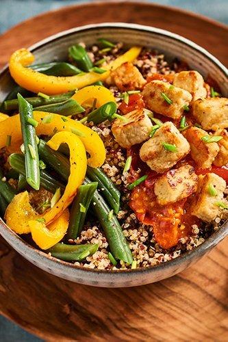 Quinoa met pittige tomatensaus