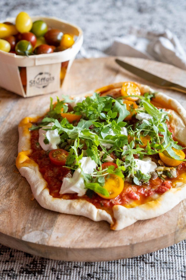 Pizza met wulken en worst