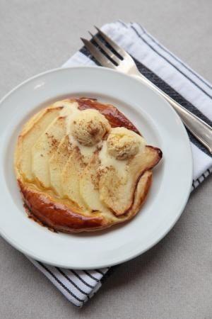 Warm appeltaartje met marsepein