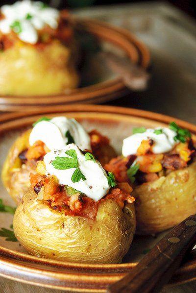 Gevulde chili aardappelen