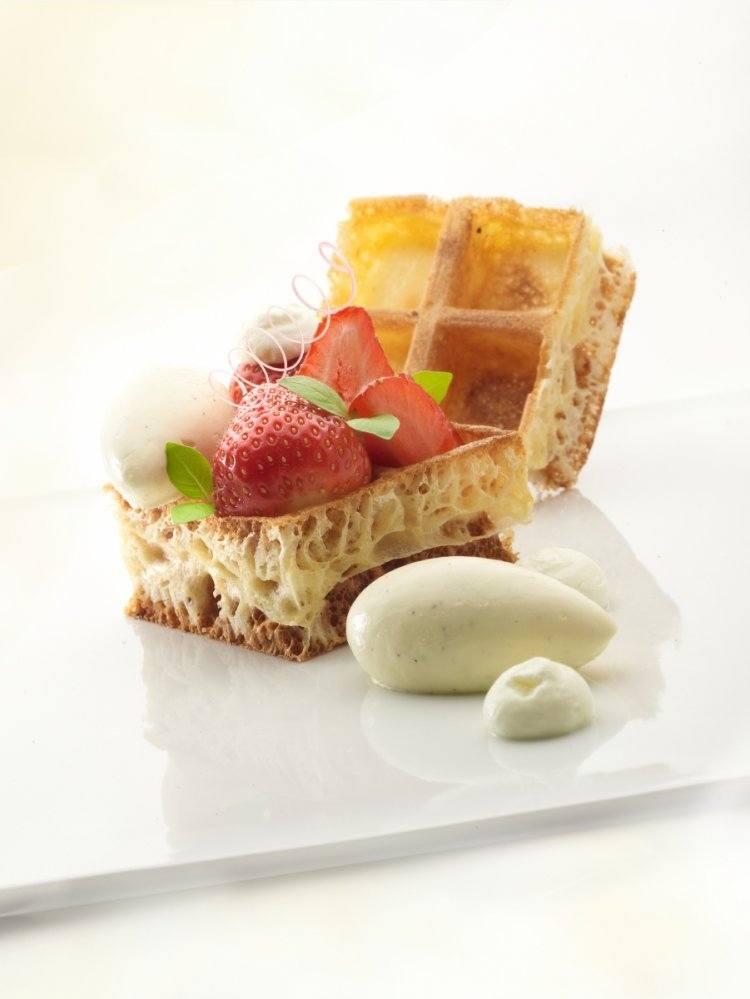 Brusselse wafels met crème suisse