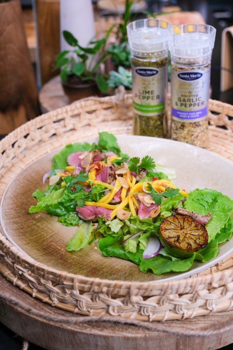 Thai beef salade met mango