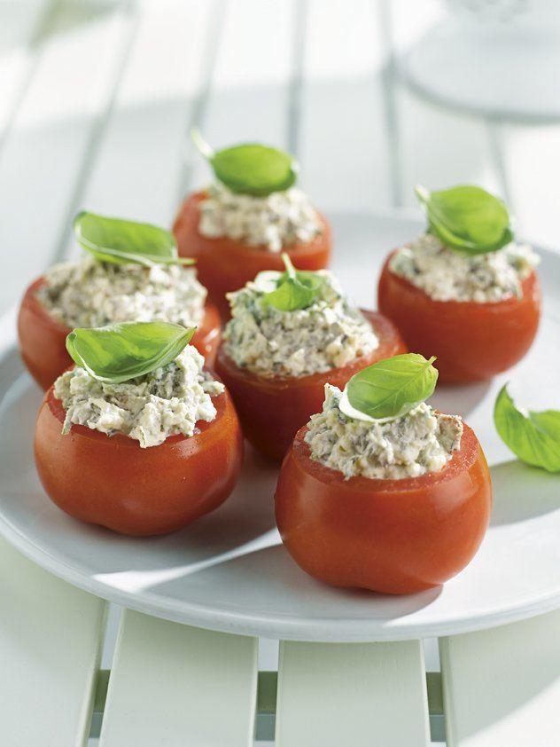 Tomaten gevuld met ricotta