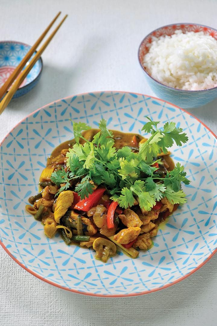 Kip curry met jasmijnrijst