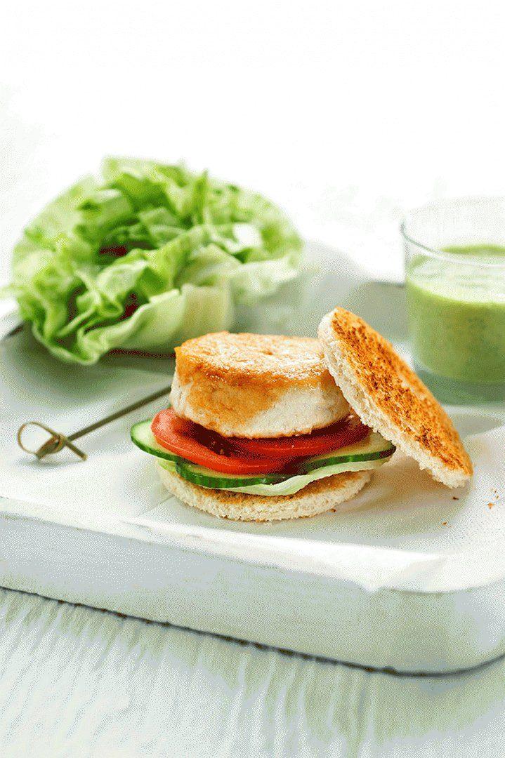 Hamburger gezond met caesardressing