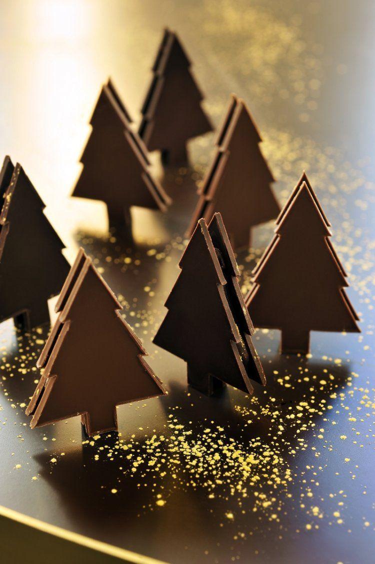 Mini chocoladekerstboompjes