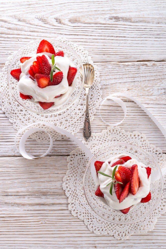 Aardbeien Romanoff