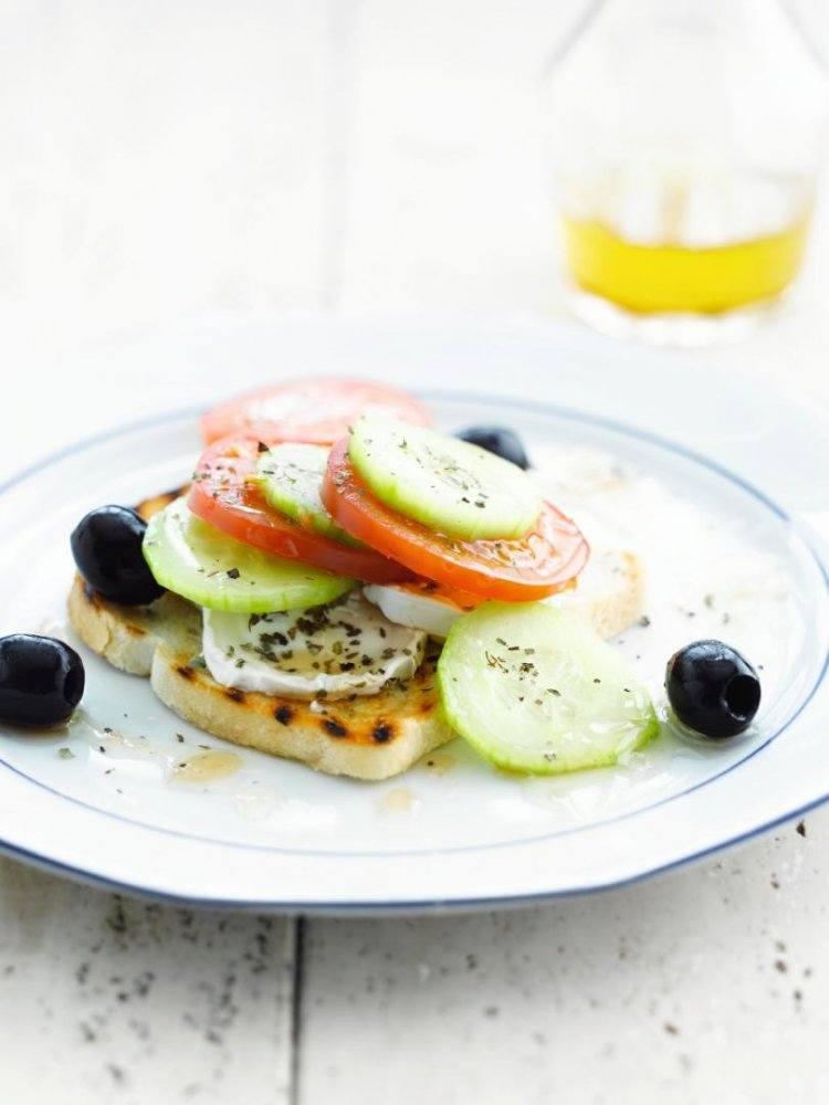 Eenvoudige griekse salade