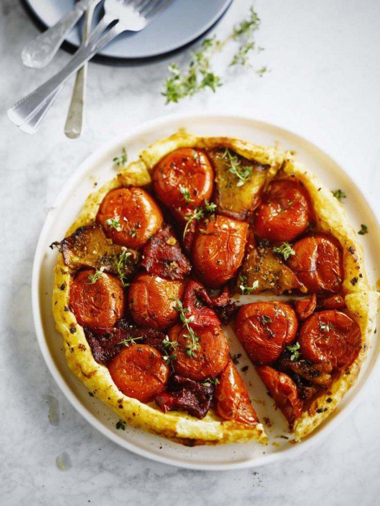 Tarte tatin met gegrilde paprika & tomaat
