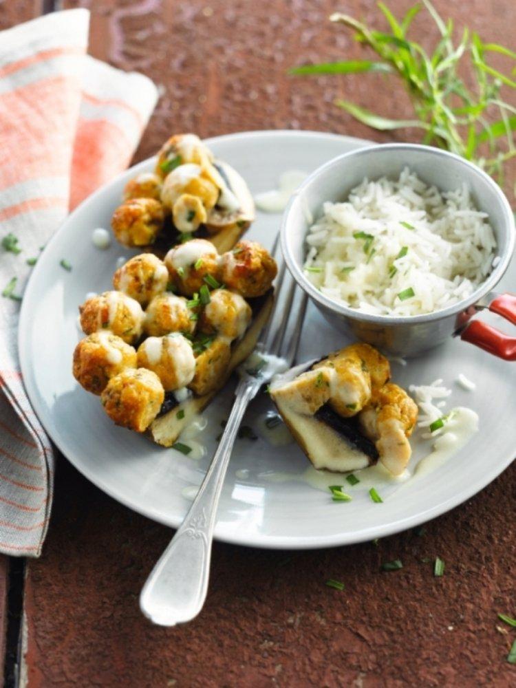 Gevulde champignons met kip