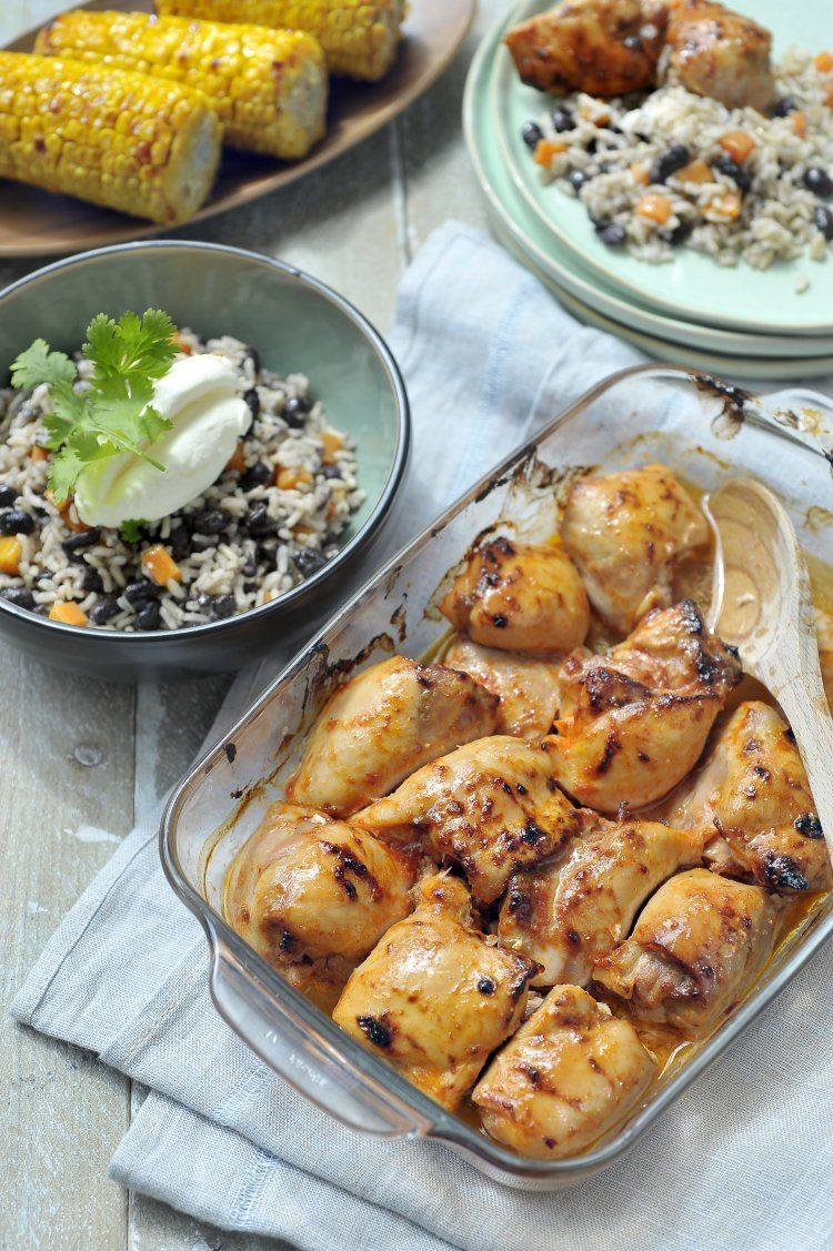 Mexicaanse rijst met kip