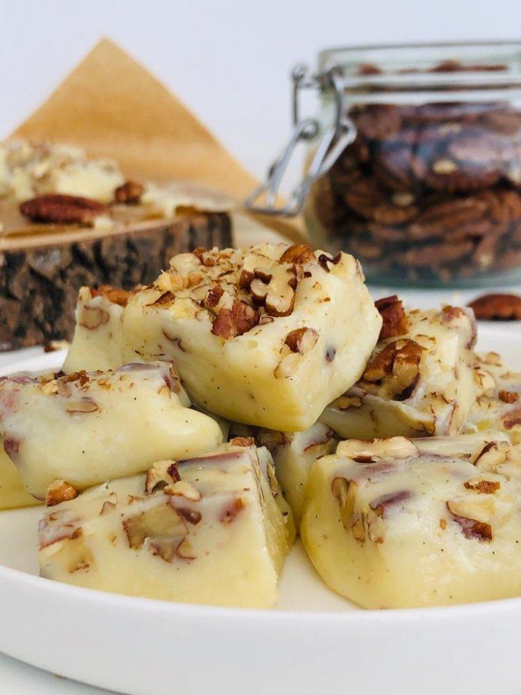 Vanillefudge met pecannoten