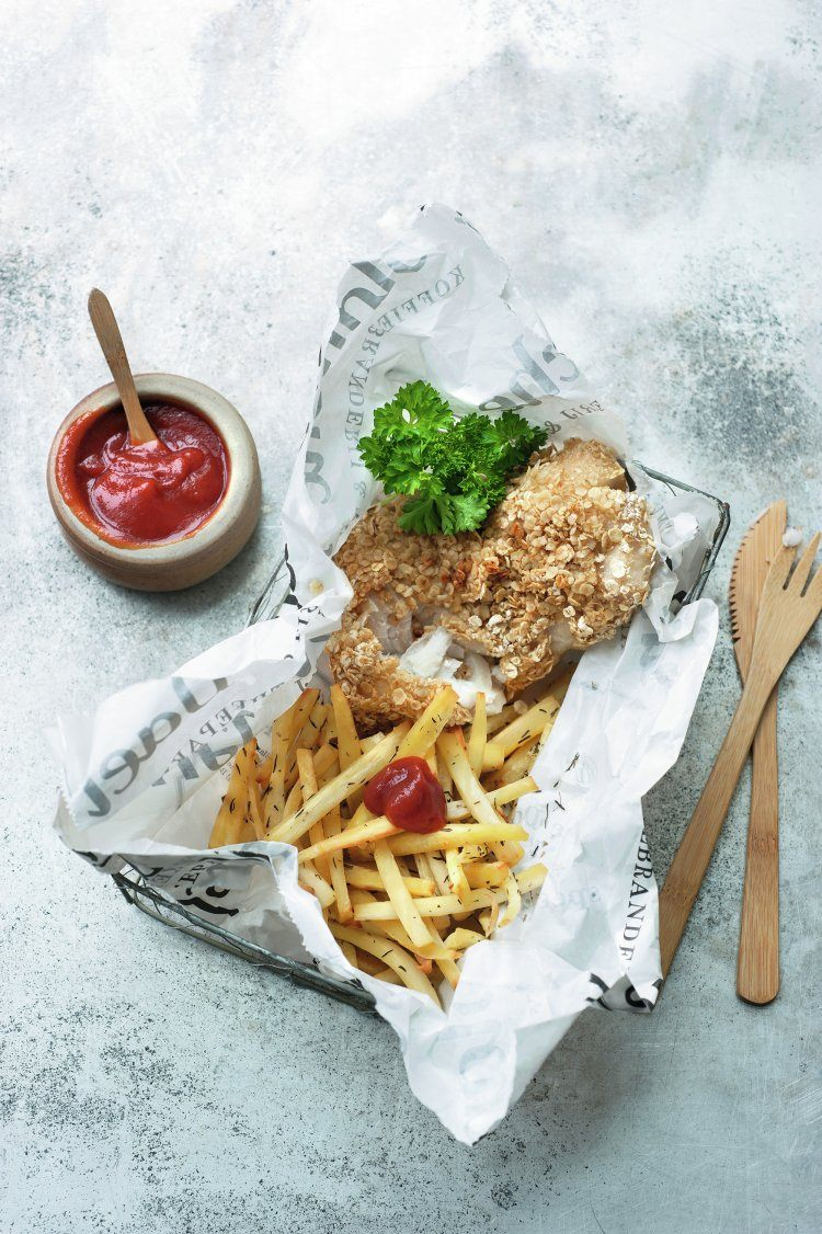 Gezonde fish and chips